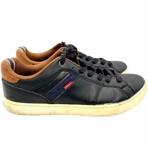 🔥 Black Levi's Sneakers with Denim Accents
